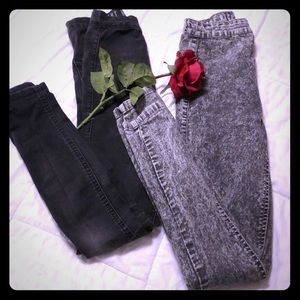Bundle of 2 pairs of high waisted skinny jeans